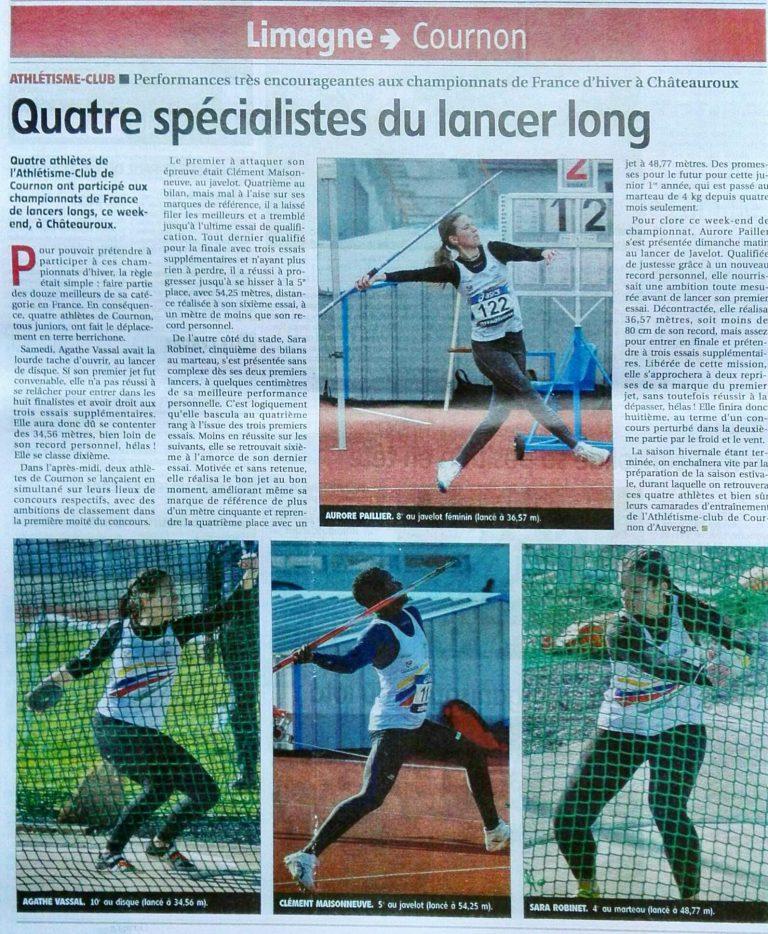 Championnat de France de Lancers longs à Châteauroux