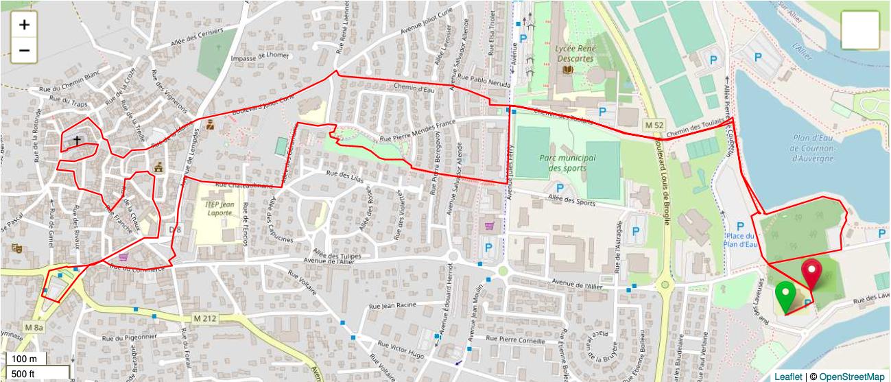Le parcours de la Rand'Aubad de Cournon